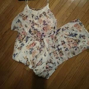 Xhileration floral pattern maxi dress